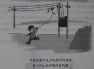 风筝线也多为棉线或者尼龙线,它们都是绝缘体,因此是不怕高压电的.图片